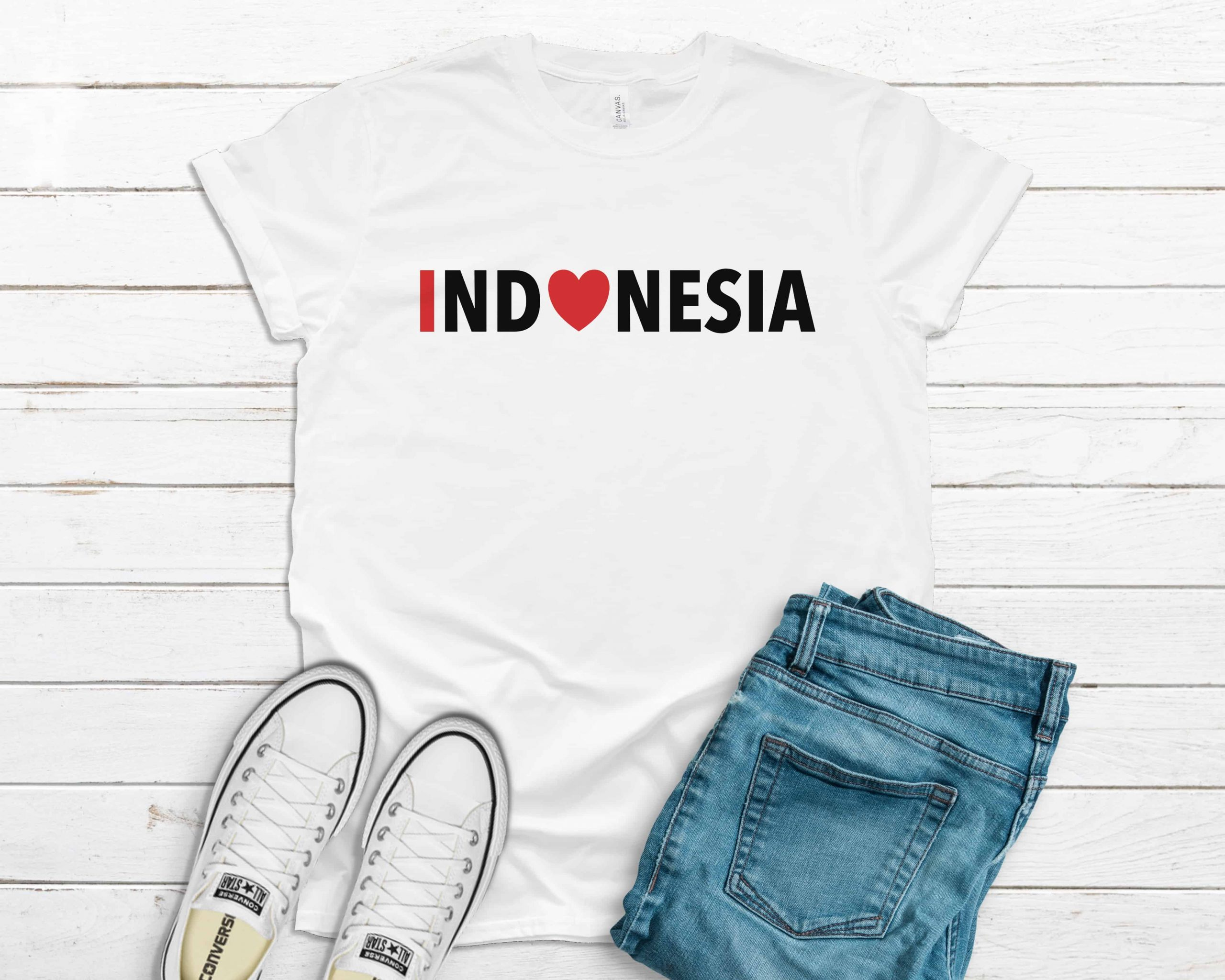 I Heart Indonesia t-shirt white color