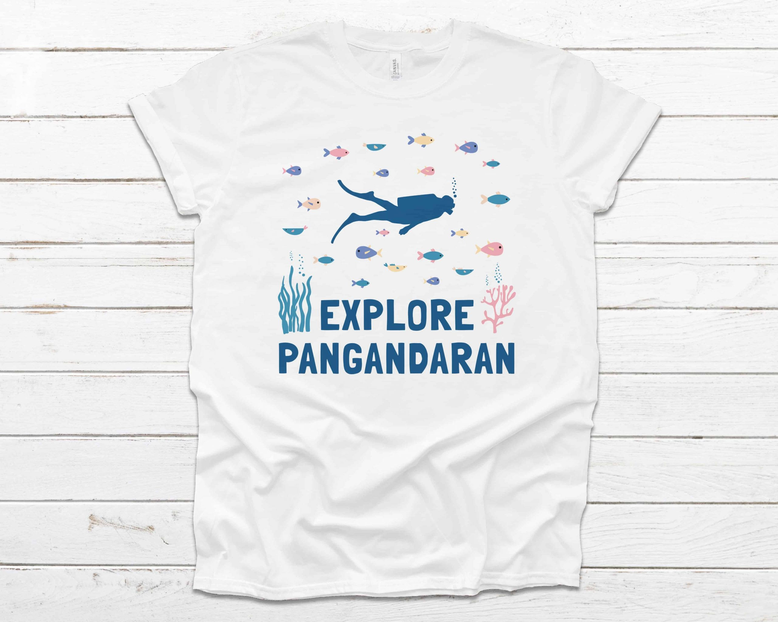 Explore Pangandaran t-shirt white color